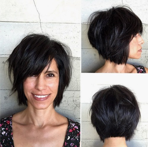 22 choppy bob haircut