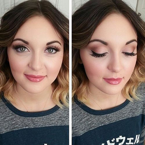 22 middle part waves with ombre