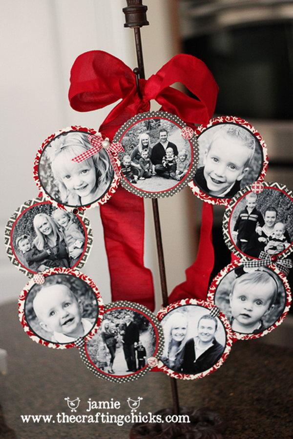 23 Family Photo Wreath