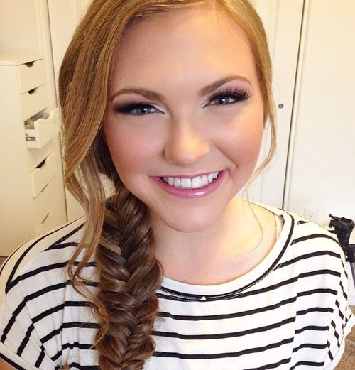 23 fishtail braid with bangs for round faces