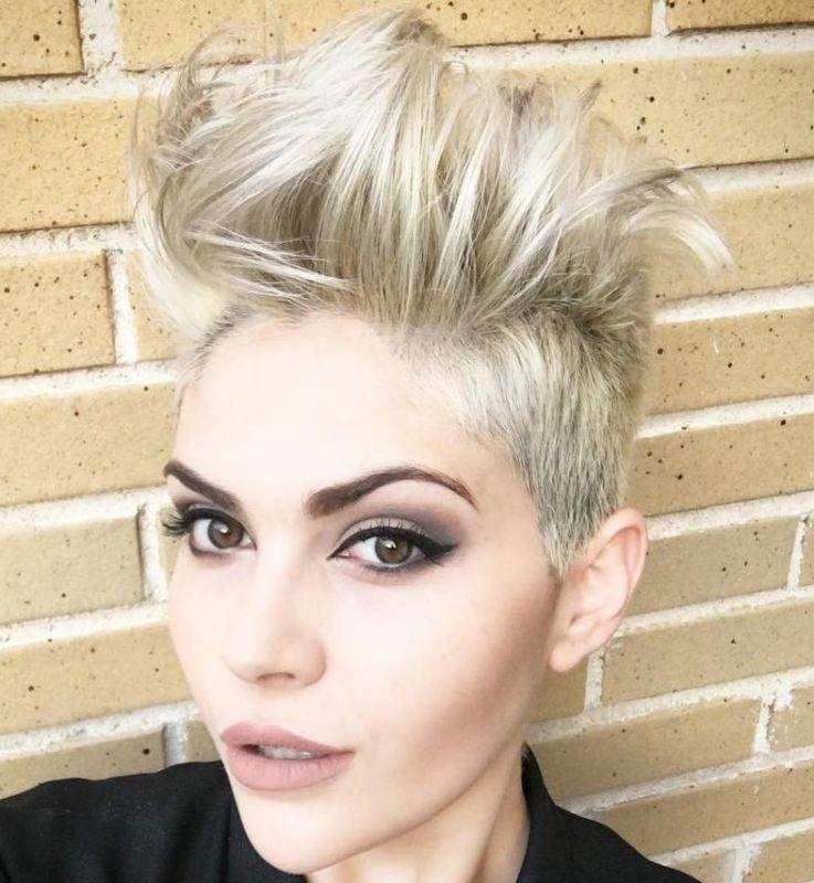 24 messy blonde undercut for short hair