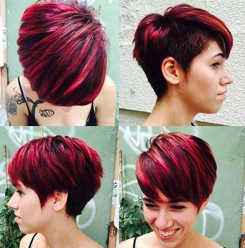 24 short choppy haircut with side undercut