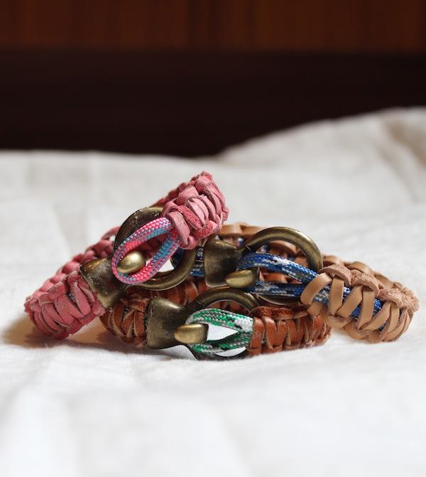 25 DIY Leather and Climbing Rope Macrame Bracelets