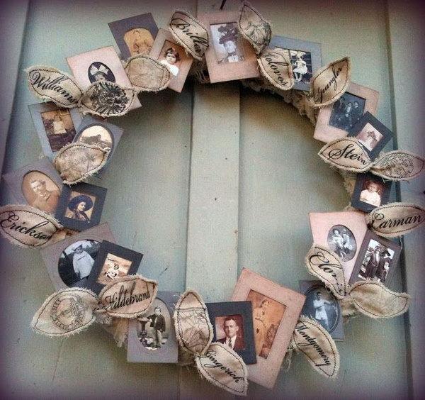 25 Family Tree Photo Wreath