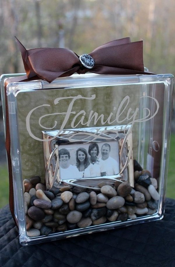 26 DIY Photo in a Glass Block Gift