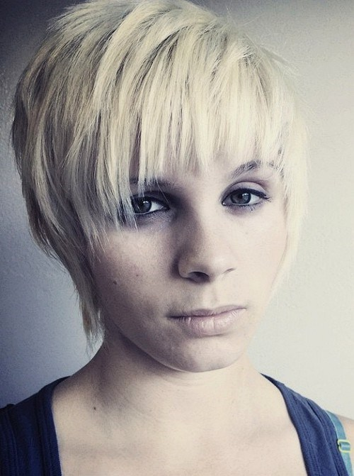 26 short blonde choppy hairstyle