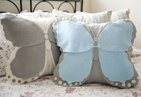 28 DIY Butterfly Pillow Cover