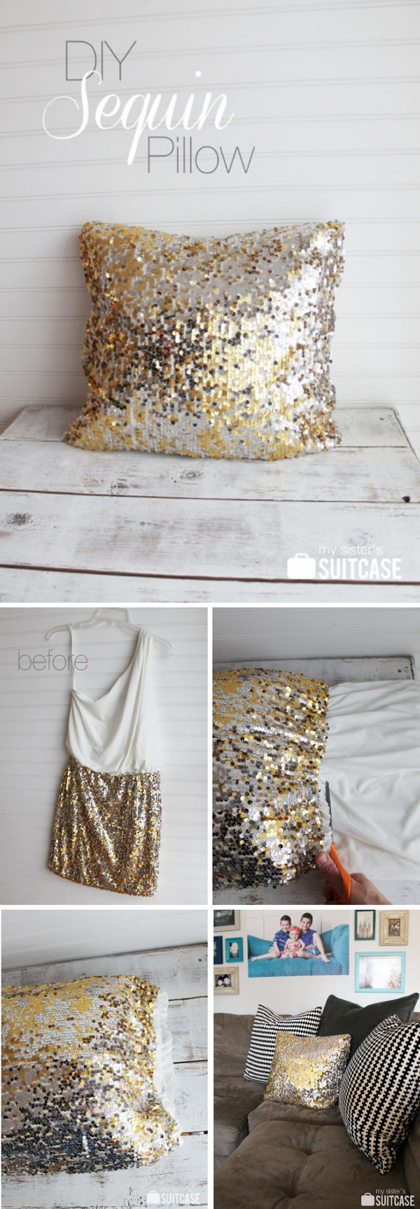 29 DIY Sequin Pillow