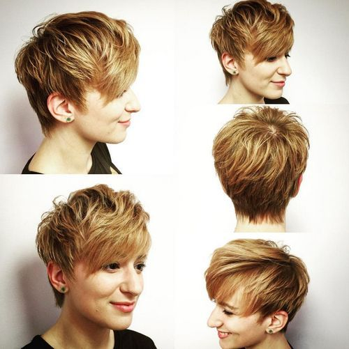 29 long feathered brown blonde pixie
