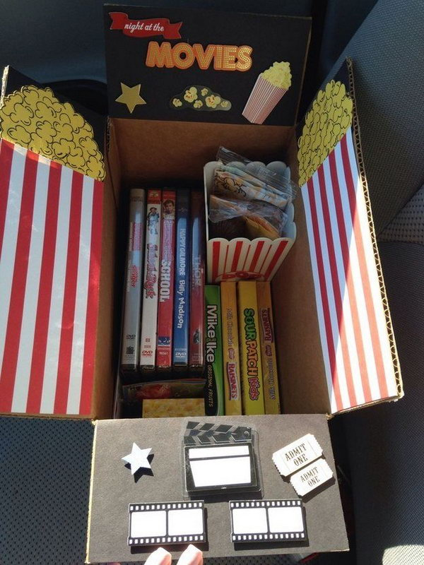 3 Movie Night College Care Package