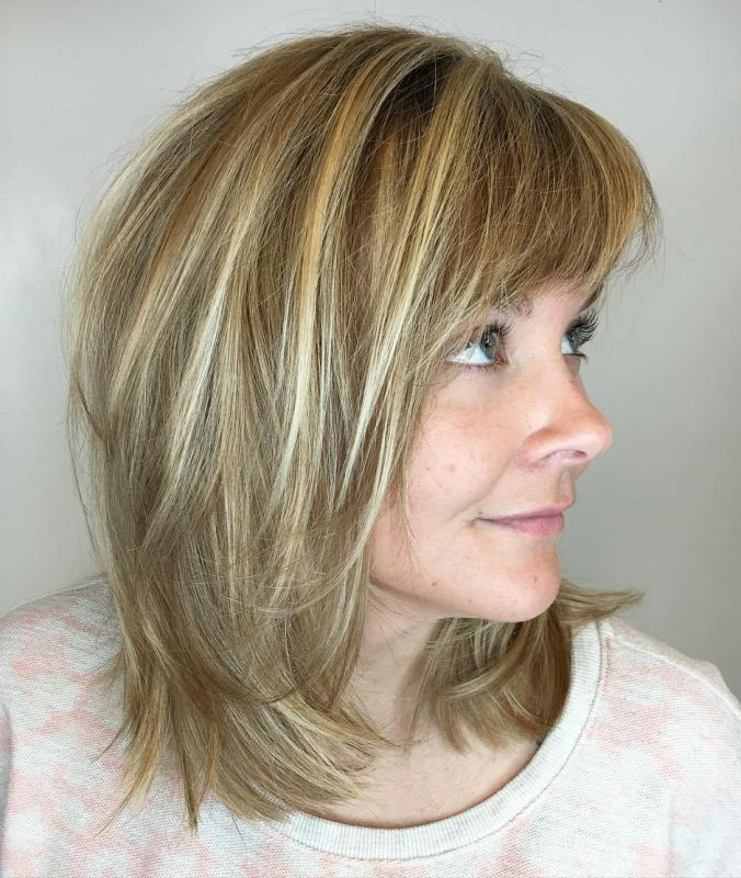 3 brown blonde wavy balayage hair