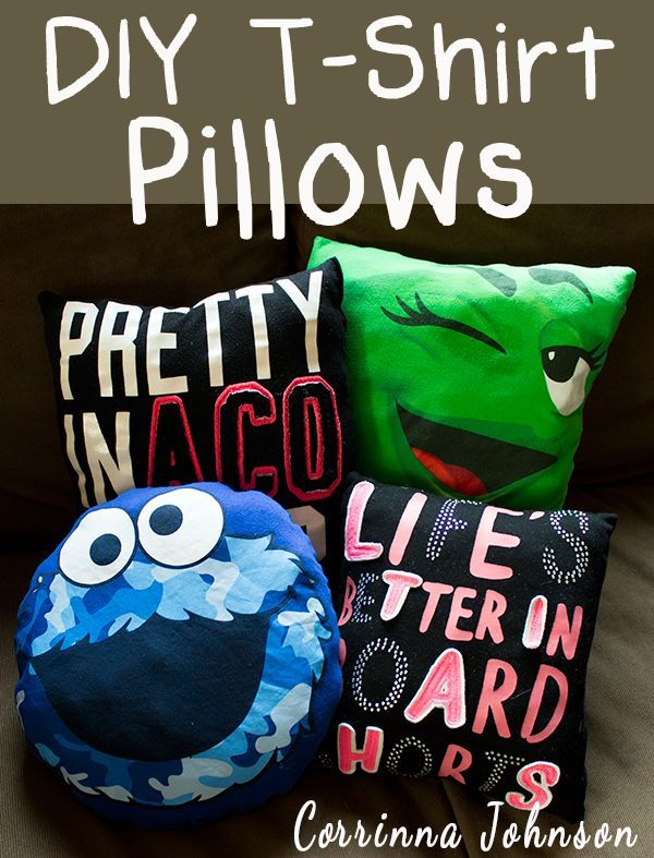 30 Recycle Old T-shirts into Colorful Pillows