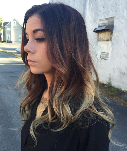 30 brown and blonde balayage for black hair
