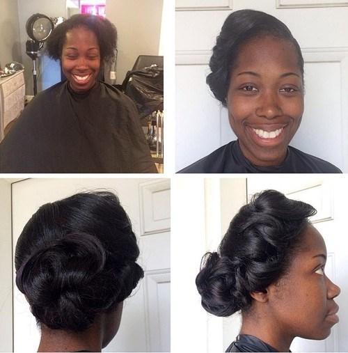 31 black wedding fancy bun updo