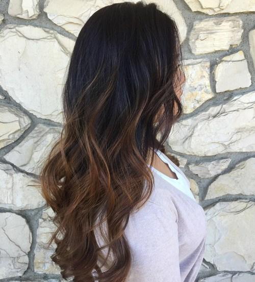 31 brown balayage ombre for black hair