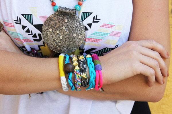 32 Colorful Rope Bracelets