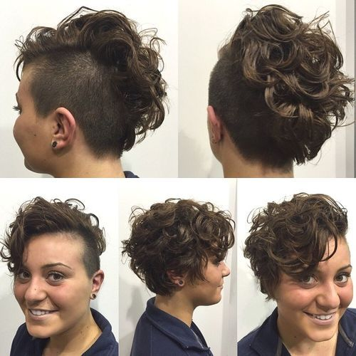 33 womens short curly hairstyle with side undercut