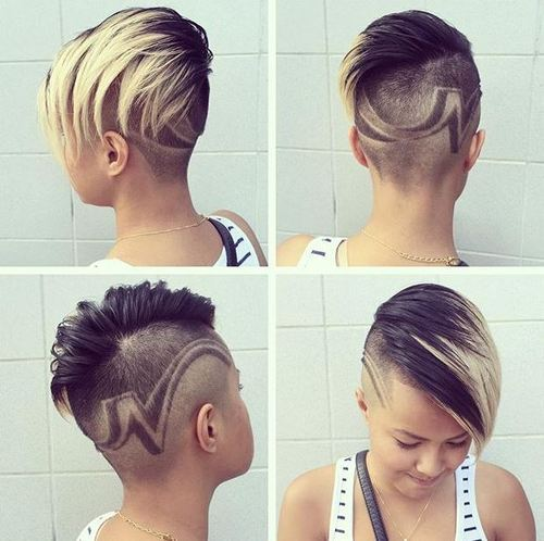 34 funky long top short sides hairstyle for women