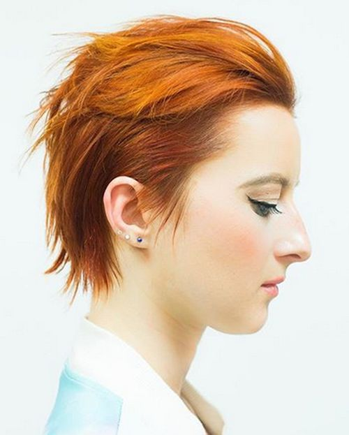 35 short edgy red hairstyle for women