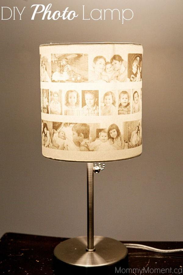 37 DIY Photo Lamp
