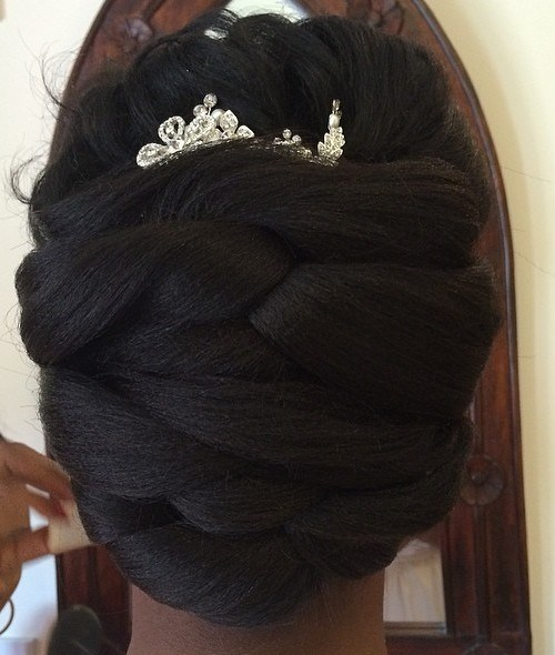 4 African American bridal updo