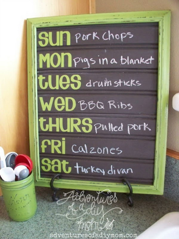 4 DIY Menu Board Made From Bead Board And Painted With Chalkboard Paint