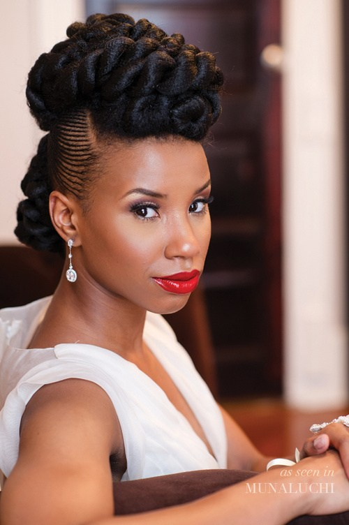 44 gorgeous natural hair updo with twists