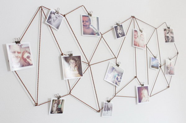 5 DIY Geometric Photo Display