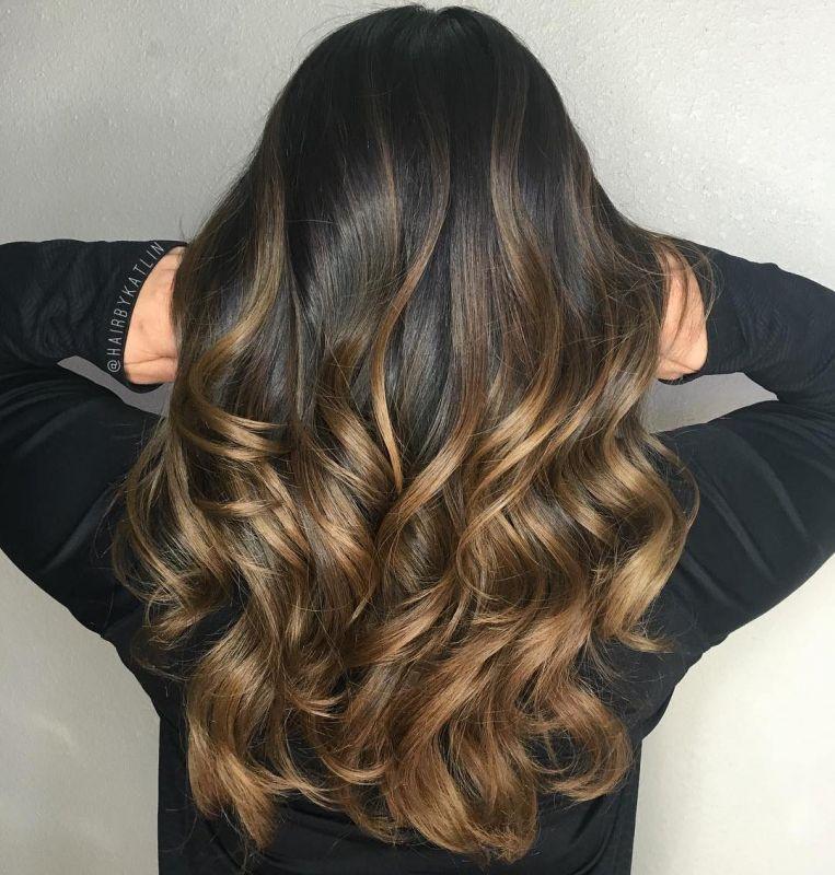5 golden brown balayage hair