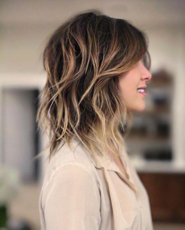 5 layered shaggy balayage hair
