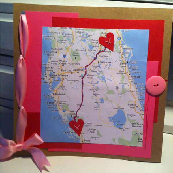 6 A cute gift board for long distance relationship friends