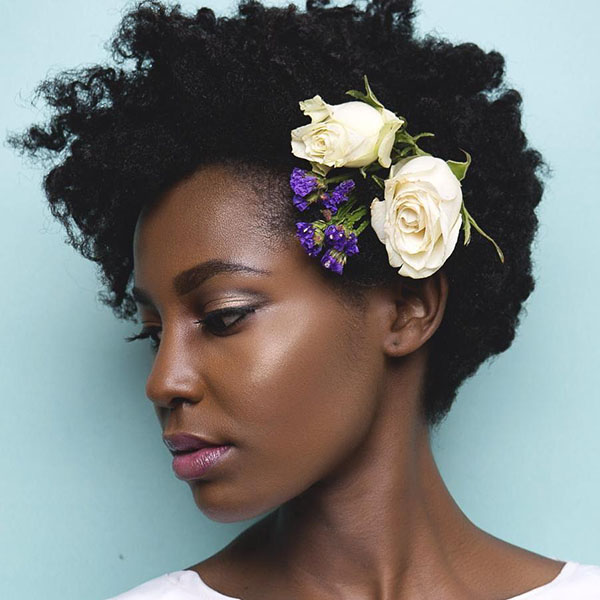 6 natural wedding hairstyle for short hair