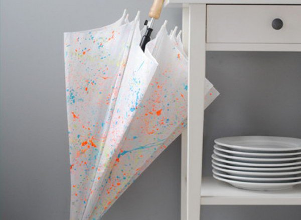 7 Paint-Splattered Umbrella