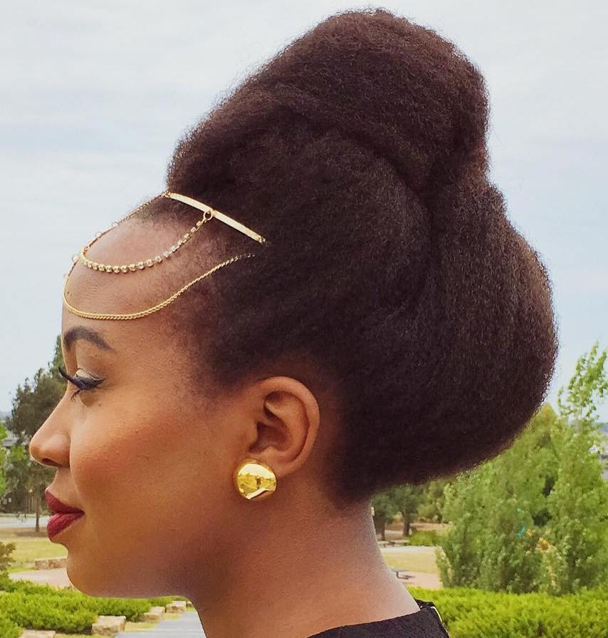 7 simple updo for natural hair