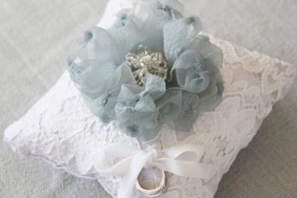 8 Fabric Flower Ring Pillow