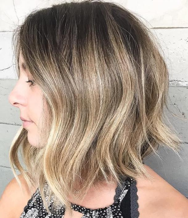 8 long blonde balayage bob