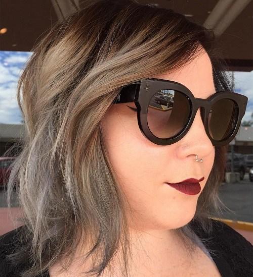 8 medium shaggy hairstyle for full faces