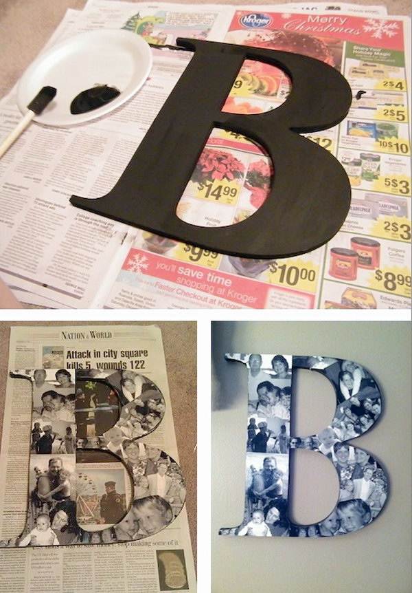 9 DIY Photo Collage Monogram