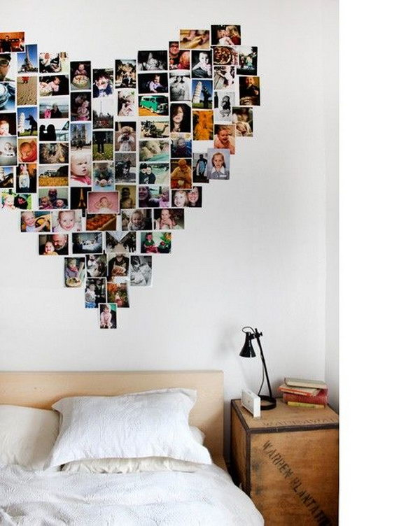 9 Picture Display in Heart Shaped