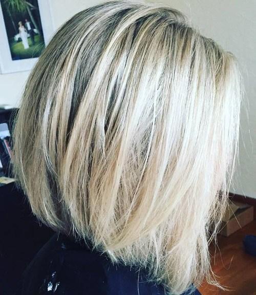 9 ash blonde balayage bob