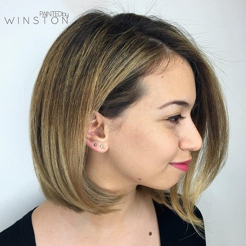 9 bob hairstyle for a chubby face