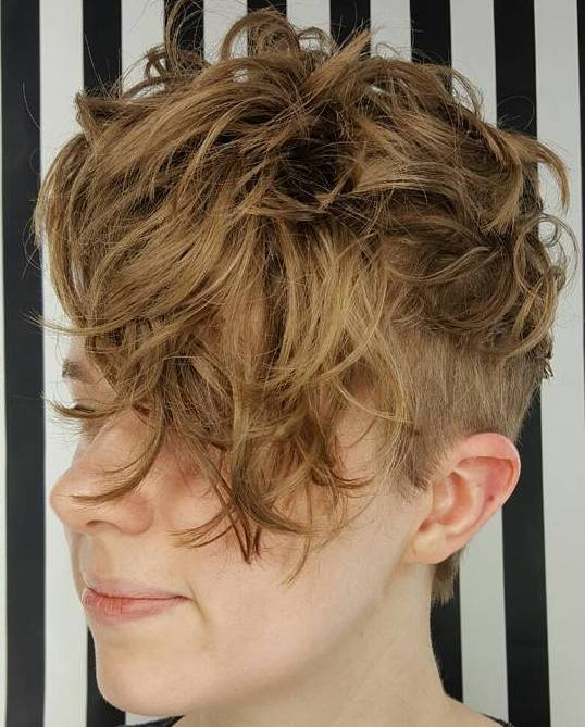 9 short messy curly undercut hairstyle