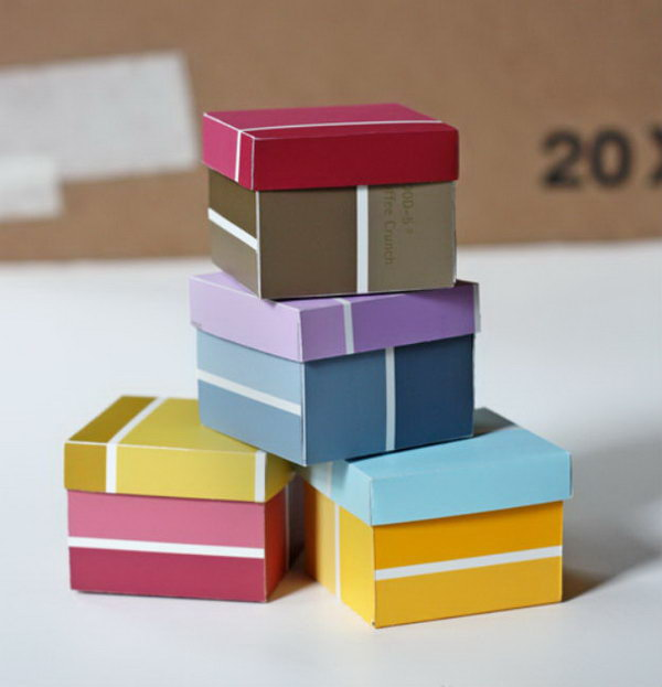 1 Paint Chip Boxes