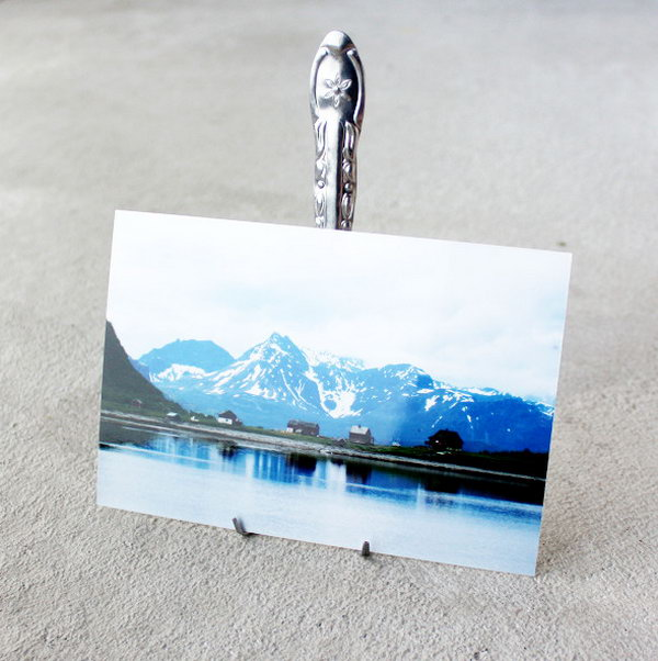 10 DIY Fork Photo Display