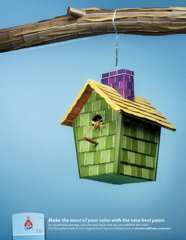 11 Paint Chip Bird House