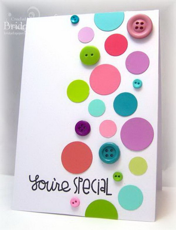 12 Paint Chip Polka Dot Card