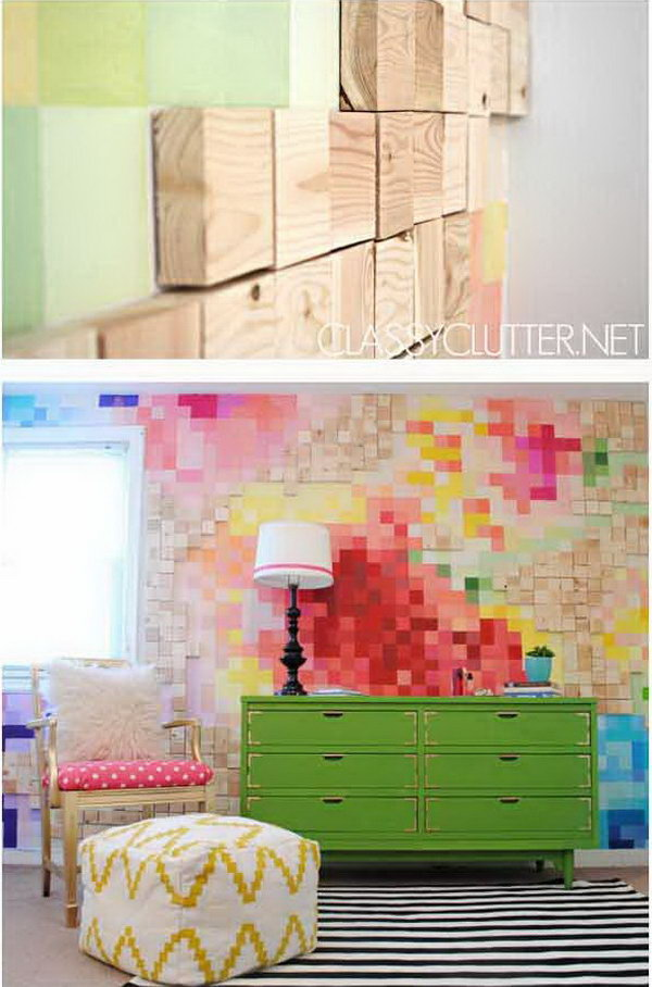 13 DIY Pixelated Art Wall