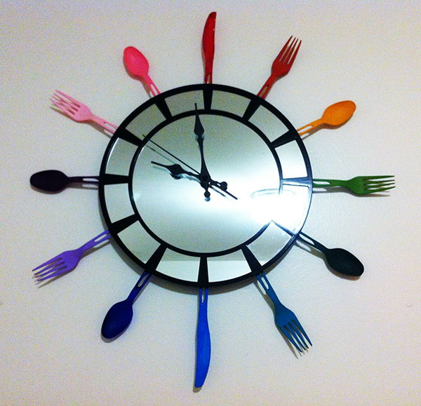 13 DIY Utensil Clock