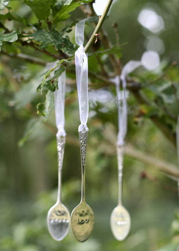 15 Recycled Spoon Christmas Decoration