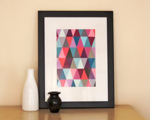 16 Paint Chip Geometric Wall Art